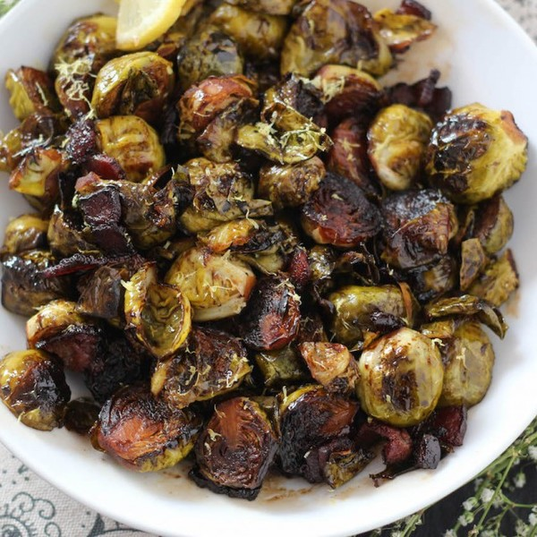Spicy Candied Brussels Sprouts