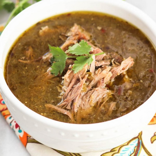 Slow Cooker Tomatillo Pork Chile Verde