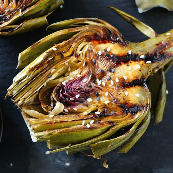 Asian Grilled Artichokes