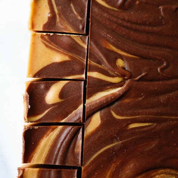 Chocolate Peanut Butter Swirl Fudge