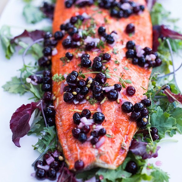 Huckleberry Salmon Recipe