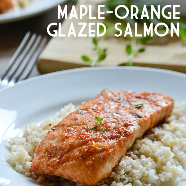 15 Minute Meal: Maple-Orange Glazed Salmon