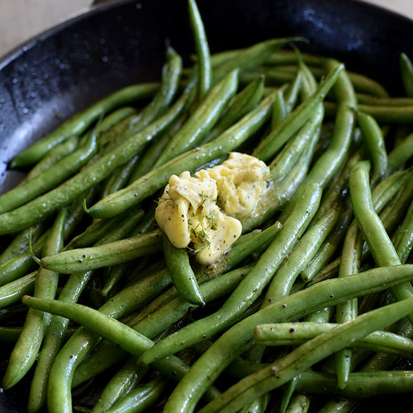 Skillet Green Beans with Dill Herbed Butter