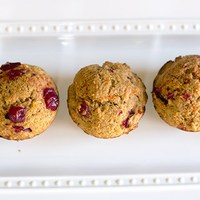 Cranberry Carrot Whole-Wheat Muffins