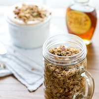 Pumpkin Yogurt with Spiced Granola