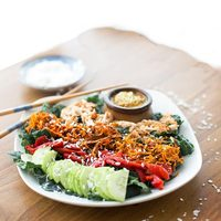 Thai Coconut Salad with Peanut Sauce
