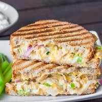 Buffalo Chicken and Grilled Cheese Sandwich