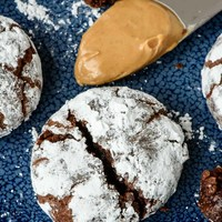 Peanut Butter Chocolate Crinkle Cookies