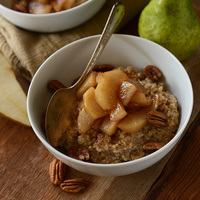 Brown Sugar Pear Steel Cut Oats