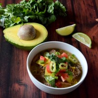 Crockpot Carnitas Burrito Bowl Soup