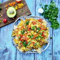 Grilled Chorizo and Carnitas Nachos