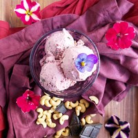 Chocolate Cherry Yogurt Ice Cream