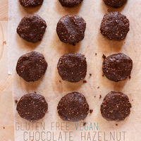 Chocolate Hazelnut No Bake Cookies