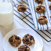 Healthy Chocolate Cherry Snack Cookies