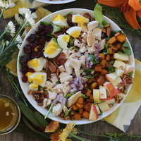 Fall Harvest Chopped Salad with Apple Maple Vinaigrette