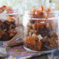 Thanksgiving Caramel Apple Pie Trifles