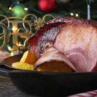 Holiday Spiced Orange Glazed Ham