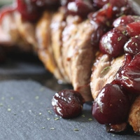 Cherry Shallot Pork Tenderloin