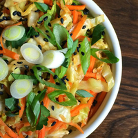 Sesame Ginger Sautéed Cabbage and Carrots