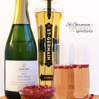 St. Germain Pomegranate Spritzers