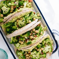 Lemony Broccoli, Chickpea & Avocado Pita Sandwiches