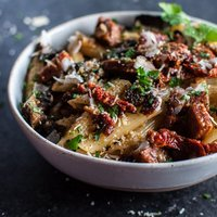 Chorizo Penne with Mushrooms and Sun-dried Tomatoes