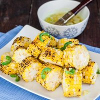 Corn with Jalapeno-Garlic Butter