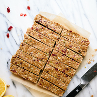 Cranberry Orange Granola Bars