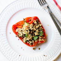 Lentil & Couscous Stuffed Peppers