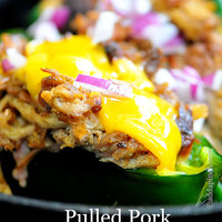 Pulled Pork Stuffed Poblano Peppers Recipe