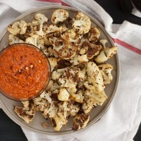Red Pepper Pesto with Roasted Cauliflower