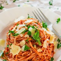 Spaghettini in Blush Sauce