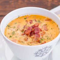 Tuscan Bean Soup with Bacon and Kabanos