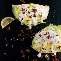 Iceberg Wedge Salad with Homemade Ranch Dressing and Bacon